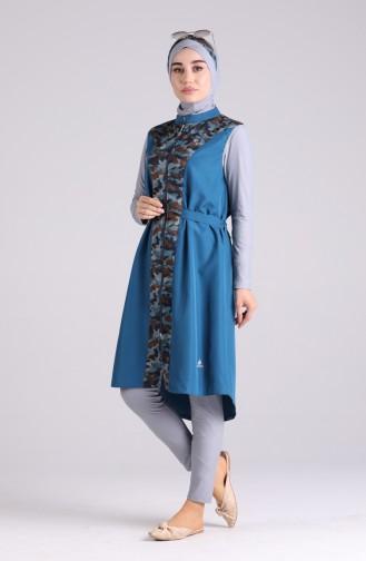 Maillot de Bain Hijab Pétrole 02