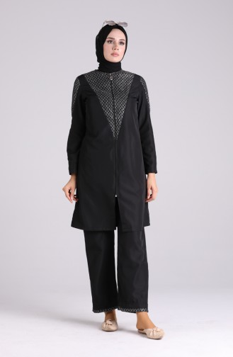 Maillot de Bain Hijab Noir 01