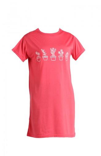 Granat-Blumen T-Shirt 8133A-03