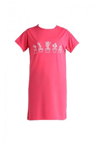Baskılı Tshirt 8133A-04 Pembe