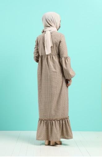 Robe Hijab Couleur Brun 1401-05