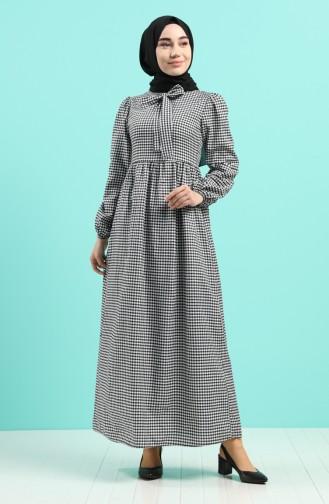 Schwarz Hijap Kleider 8246-04