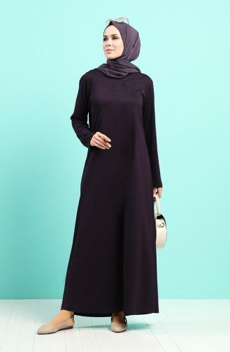 Robe Hijab Pourpre 4522-02