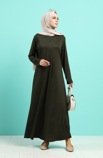 Khaki Hijap Kleider 4522-03