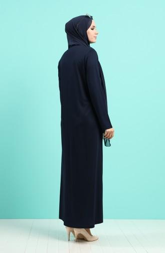 فستان أزرق كحلي 4522-05