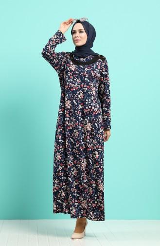فستان أزرق كحلي 4589-02