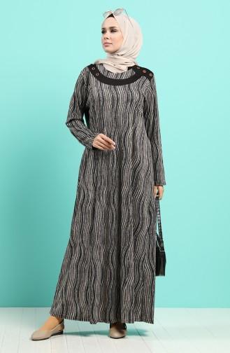 Patterned Dress 4591-02 Black 4591-02