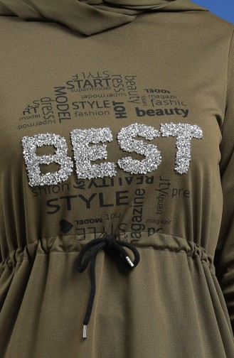 Baskılı Spor Elbise 5008-01 Haki
