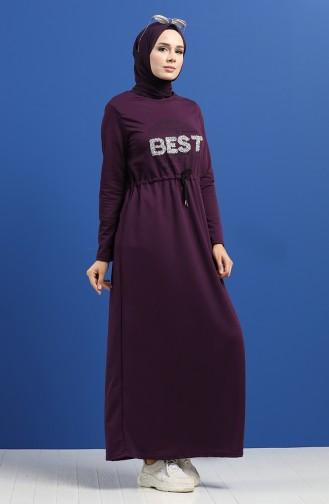 Lila Hijap Kleider 5008-02