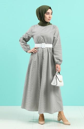 Khaki Hijap Kleider 2062-02