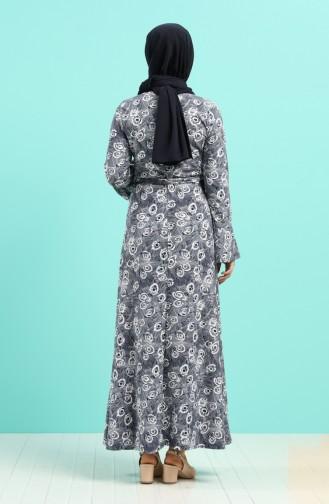 Robe Hijab Bleu Marine 5885E-01