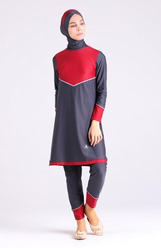 Anthracite Swimsuit Hijab 01