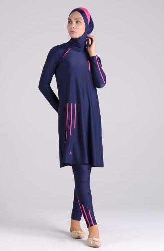 Navy Blue Swimsuit Hijab 03