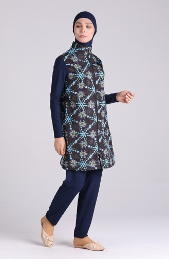 Navy Blue Swimsuit Hijab 8585A-01