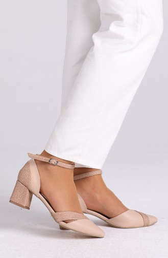 Skin color Heeled Shoes 0060-05
