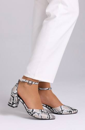 White Heeled Shoes 0612-07