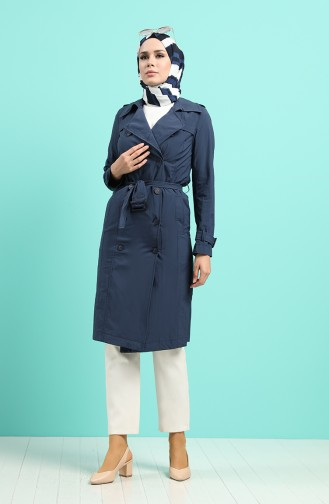 Trench Coat Bleu Marine 25001-02