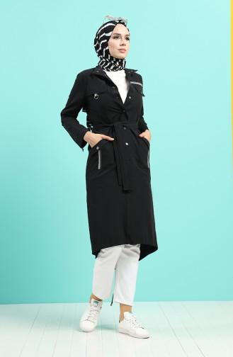 Schwarz Trench Coats Models 25006-02