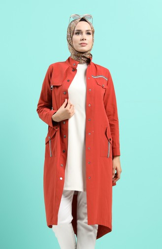 Ziegelrot Trench Coats Models 25006-03