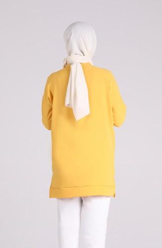 Baskılı Spor Tunik 2336-01 Sarı