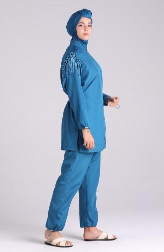 Petroleum Hijab Badeanzug 20204-04