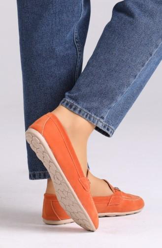 Orange Damen Ballerinas 0403-06