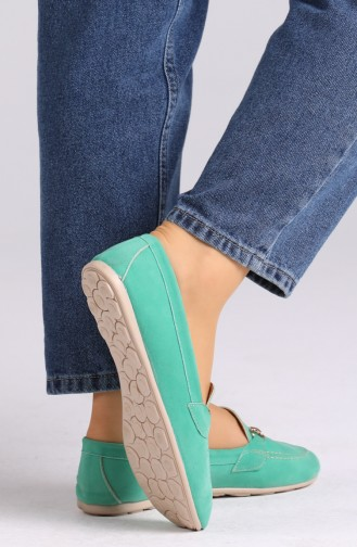 Water Green Woman Flat Shoe 0403-11