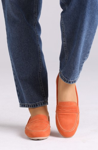 Orange Damen Ballerinas 0404-07