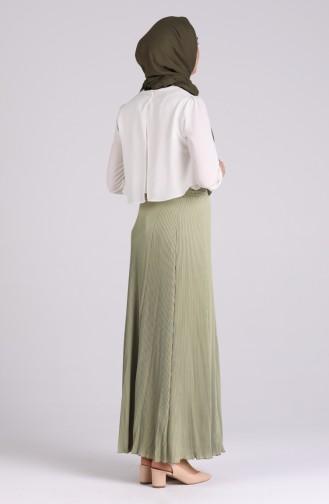 تنورة أخضر حشيشي 20Y2009500-02
