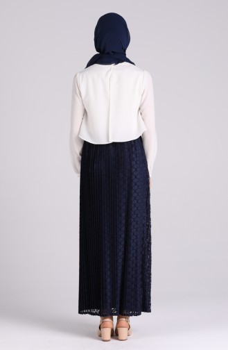Navy Blue Skirt 4030-01