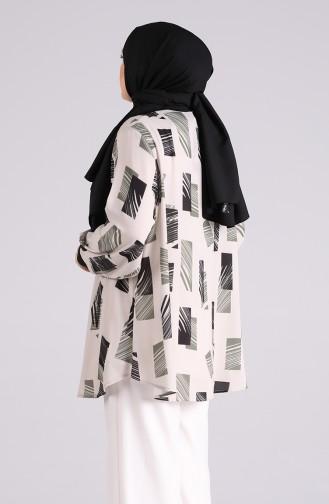 Khaki Overhemdblouse 201483-03