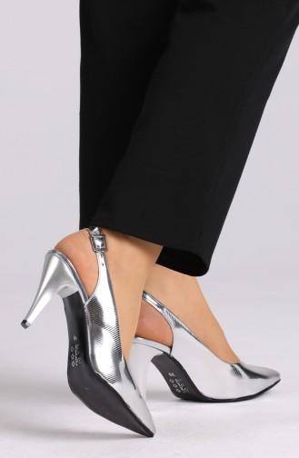 Chaussures a Talons Gris argenté 0032-11