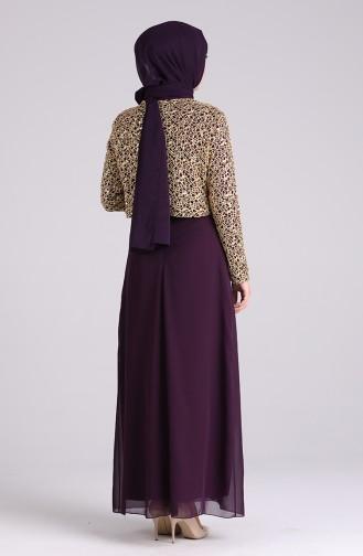 Habillé Hijab Pourpre 2943-03