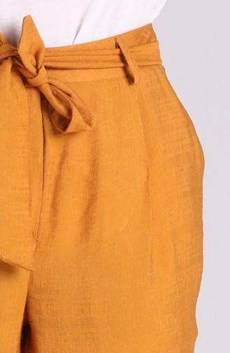 Dark Mustard Broek 9Y1911306-03