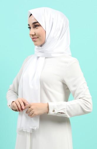 شال أبيض 3014DE-16