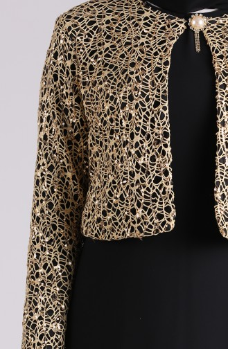 Schwarz Hijab-Abendkleider 2943-02