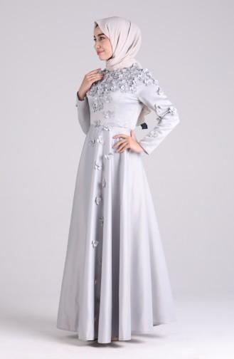 Habillé Hijab Gris 1017-01