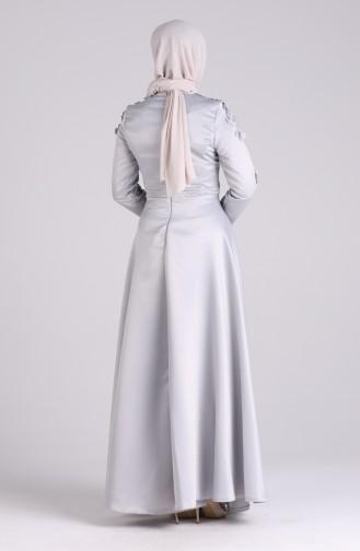 فساتين سهرة بتصميم اسلامي رمادي 1017-01