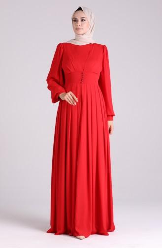 Rot Hijab-Abendkleider 60172-01