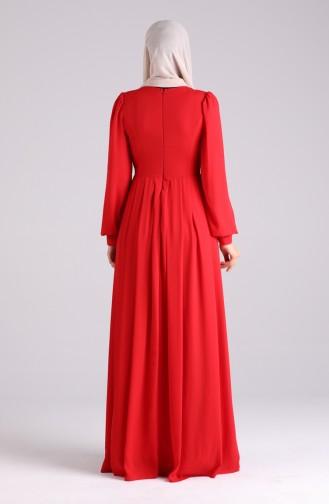 Habillé Hijab Rouge 60172-01