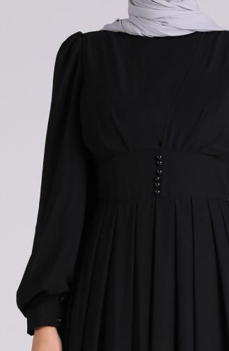 فساتين سهرة بتصميم اسلامي أسود 60172-03