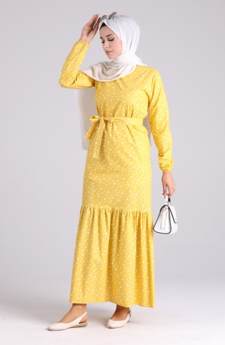 Robe Hijab Moutarde 4603-01