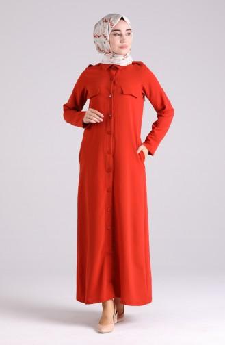Robe Hijab Couleur brique 0920-02