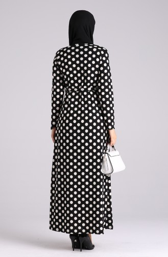 Robe Hijab Noir 5709M-01