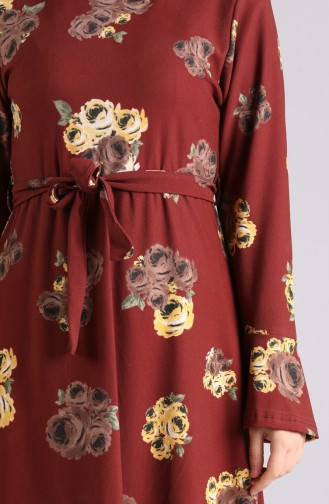 Robe Hijab Tabac 5885-03