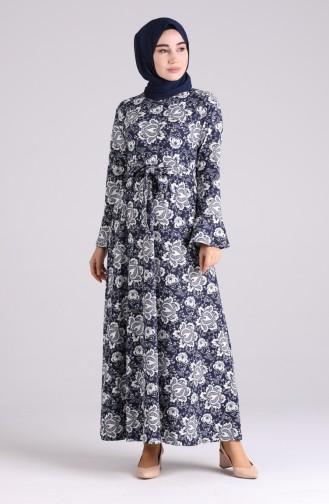 Robe Hijab Bleu Marine 5885B-01