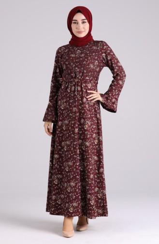 Robe Hijab Bordeaux 5885F-01