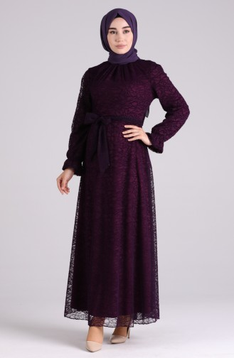 Robe Hijab Pourpre 60182-01