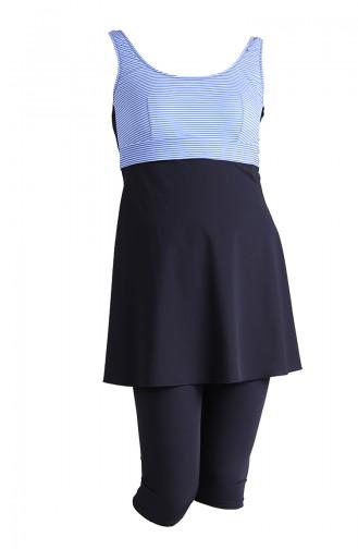 Maillot de Bain Hijab Bleu Marine 0122-03