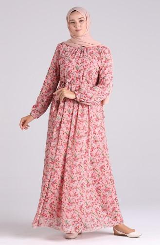 Robe Hijab Rose Pâle 20Y3064001-03
